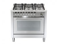Lofra PROFESSIONAL fornuis PF190.60 6 pits incl.wok-1 oven 90cm breed