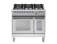 Lofra PROFESSIONAL fornuis PF192.60 6 pits gas-electro-wok 90 cm bree 2 ovens